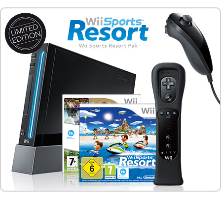 Nintendo Wii Black Sports Resort Limited Edition